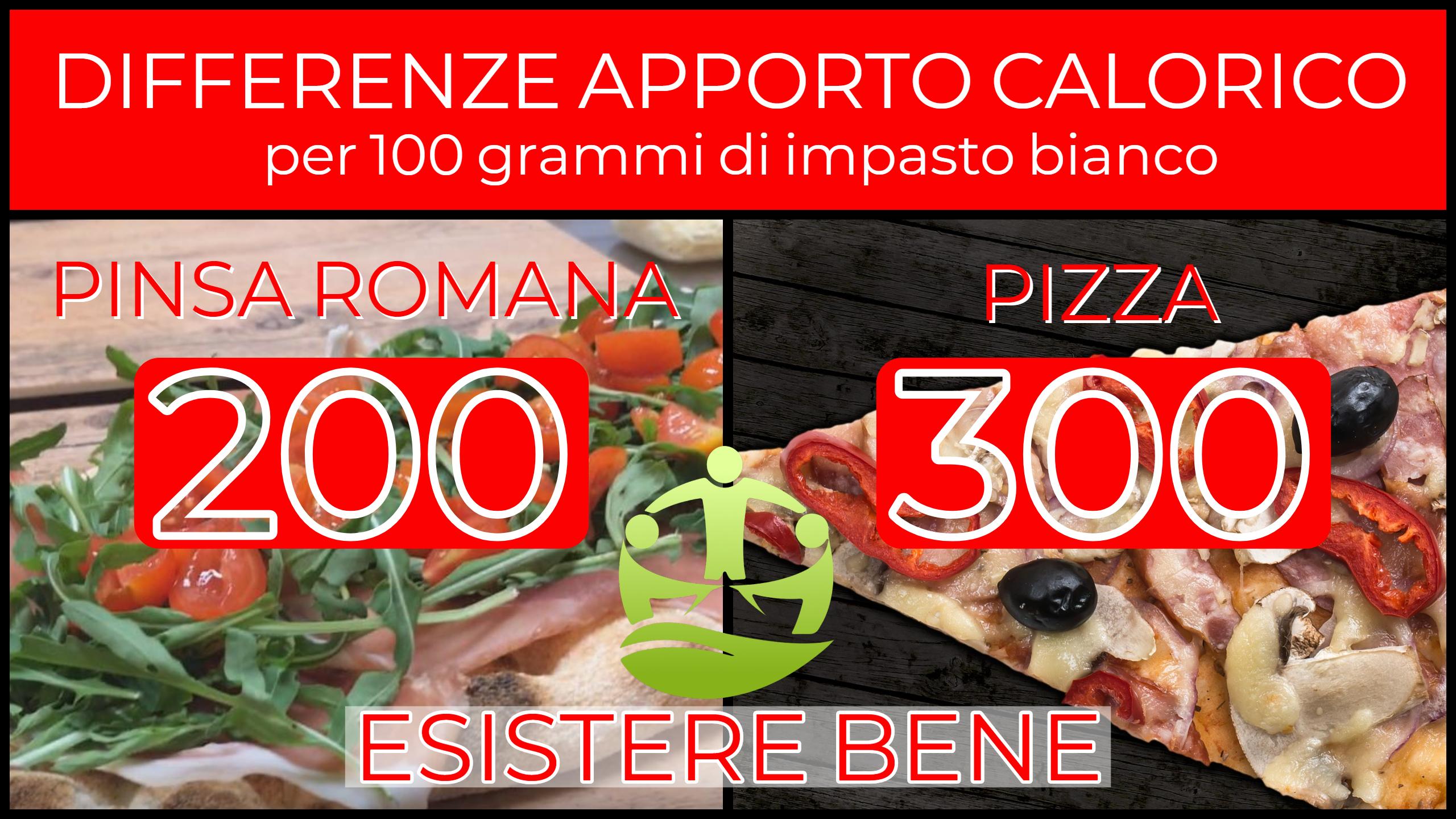 APPORTO CALORICO PINSA ROMANA - ESISTERE BENE