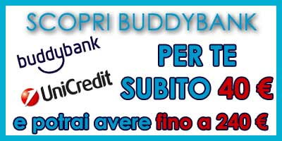 Promozione Buddybank unicredit